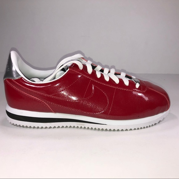89779f92b29b Nike Cortez Premium Metallic Red   Silver Shoes